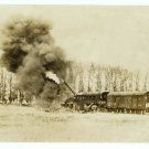 Train and Firing Cannon Albumen
