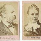 President Garfield and Wife CDVs