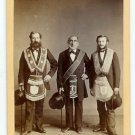 Four CDV's of Lodge Members
