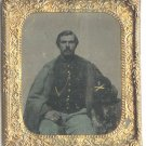 Sixth Plate Seated Civil War Soldier Tintype