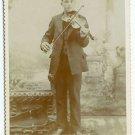 Man Playing Violin Cabinet