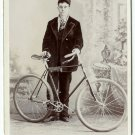 Man and  Bicycle Cabinet Cards