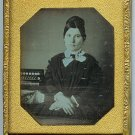Lady with Concertina Daguerreotype