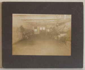 Blacksmith Shop Interior - Horses and Blacksmiths