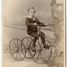 Child on a Tricycle Cabinet Card