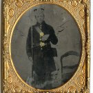 Armed Civil War Union Private Tintype