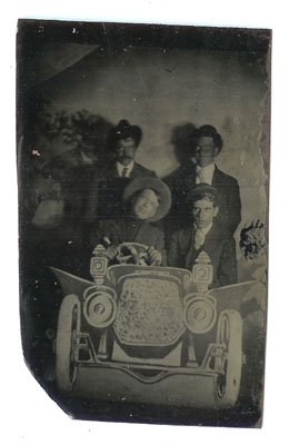 Tintype of a Car