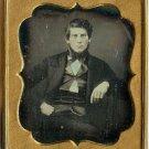 Seated Gentleman - Tinted Daguerreotype