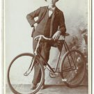 Man with  Pneumatic Bicycle
