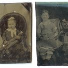 Two Doll Tintypes