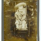 Spooky Dog and Child Cabinet Card