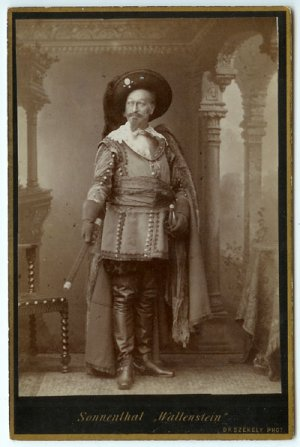 Sonnenthal as Wallenstein Cabinet Card