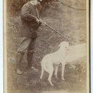 Hunter and Dog Cabinet Card