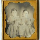 Twins Holding Flowers - Sixth Plate Dag
