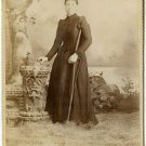 Lady with a Crutch Cabinet Card