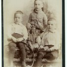 Horse Pull Toy, Hoop Cabinet Card