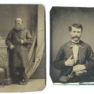 Two Tintypes - Distinguished Gents