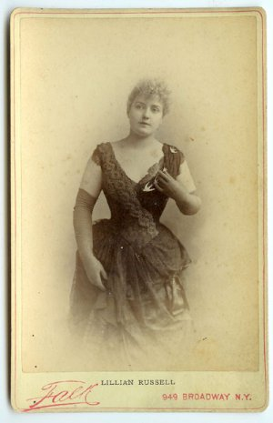 Lillian Russell Cabinet Card by Falk