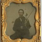 Tinted Ambro of a Young Man with His Violin