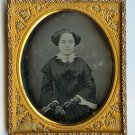 Beautiful Teenager with Lace Gloves Daguerreotype