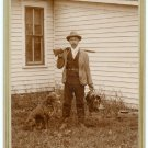 Hunter, Rifle, Hunting Dog, Catch Cabinet Card