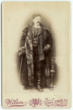 High Fashion: Man in a Bear Coat Cabinet Card