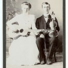 Violinist and Guitar Player Cabinet Card