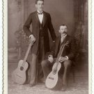 Two Guitar Players Cabinet Card