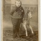 Child with Her Hobby Horse Cabinet Card