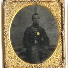 Sixth Plate Tintype Civil War Private