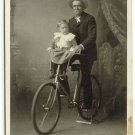 Riders and Child with Bicycle Cabinet Cards