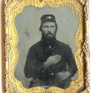 Ninth Plate Seated Civil War Soldier Tintype