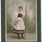 Tinted Cabinet Card of a Peasant