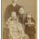 Family and Child with a Doll Cabinet Card