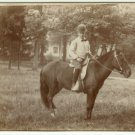 Boy on a Pony Cabinet Card