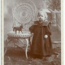 Child with Toy Horse Cabinet Card