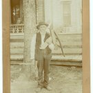 Woodcutter Albumen Photograph