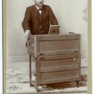 Cabinet Card of a Man Playing a Celeste