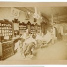 Barber Shop Interior Albumen Photograph