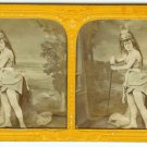 Tinted French Tissue Opera Stereoview