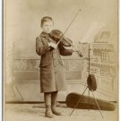 Young Violinist Cabinet Card