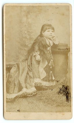 CDV of Circus Midget Henrietta Moritz
