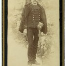 Armed Italian Soldier Cabinet Card