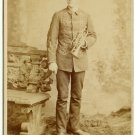Bandsman with Trumpet Cabinet Card