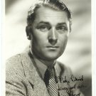 Autographed Brian Aherne Silver Photograph
