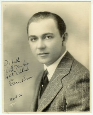Signed Oscar Baum Photograph