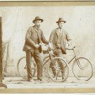 Two Bicyclists Silver Photograph