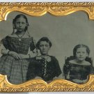 Quarter Plate Ambrotype of Siblings