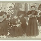 Female Musicians with a Doll Cabinet Card