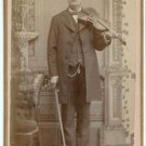 Violinist CDV and Dance Card